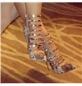 New Arrival Gorgeous Snake Skin Amazing Ankle Strap High Heel