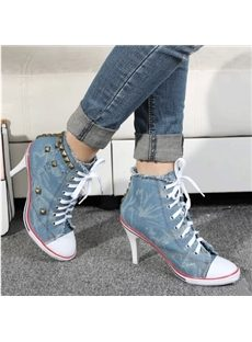 New Arrival Lace-Up Rivets Low Heels