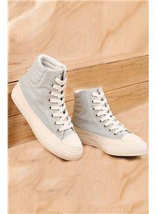 New Fashion Luxury Pure Color Preppy Canvas Shoes