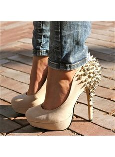 New Fashion Rivets Platform Heels