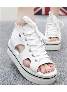 Newest Cut-Outs Cloth Casual Sandals