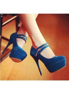 Platform Stiletto Heels with Zipper