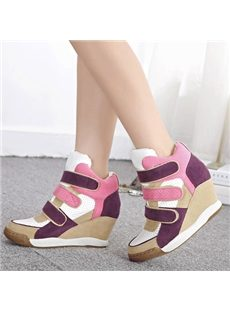Popular Contrast Color Magic Tape Sneakers