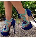 Ravishing Contrast Color Suede Dress Sandals
