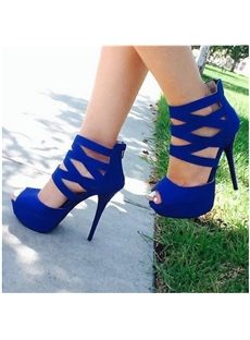 Romantic Solid Color Cross Strap Platform Sandals