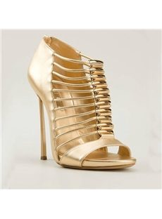 Sexy Cut-Out Stiletto Heels Sandals
