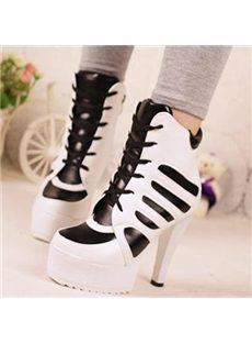 Sexy Lace-up Chunky Platform Shoes
