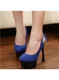 Sexy Platform Stiletto Heels with Rhinestone & Tassel