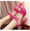Shapely Cut-Outs Rhinestone Dress Sandals
