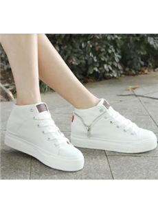Simple Cool Solid Flat Canvas Shoes
