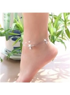 Striking Leaves Decoration Anklets