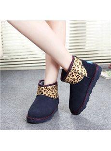 Stylish Leopard Print Snow Boots
