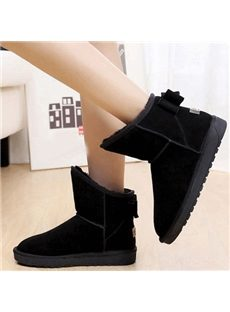 Sweet Bowknot Short Snow Boots