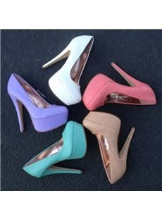Sweet Candy Color Platform Heels