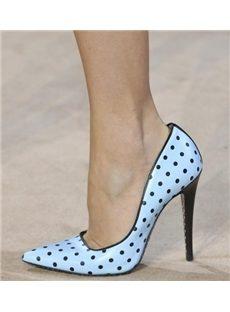 Sweet Dot Print Pointed-toe Heels