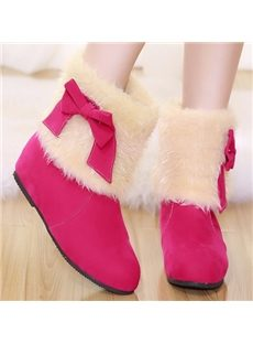 Sweet Girls Bowknot Snow Boots