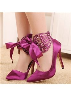 Sweet Lady Rhinestone Cut-Outs Stiletto Heels