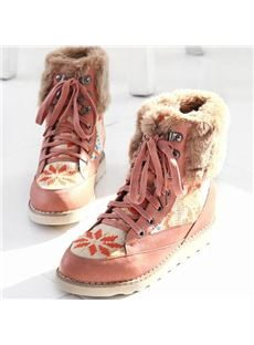 Sweet Pink Warm Comfortable Ankle Snow Boots