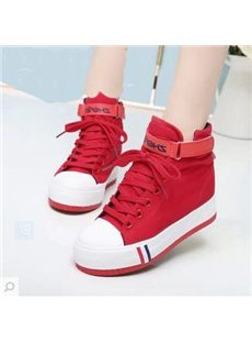 Sweet Solid Color Canvas Shoes