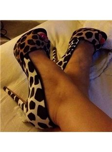 Wild Leopard Men's Love Peep-toe Heels