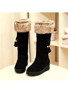 Winner Sweet Suede Tassels Comfortable Snow Boots