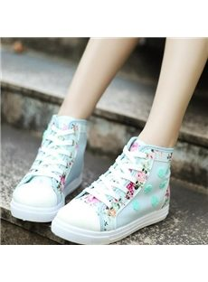 Wonderful Flower Print Canvas Shoes