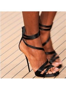 Wonderful Straps Stiletto Dress Sandals