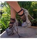 Zebra Print Dress Sandals