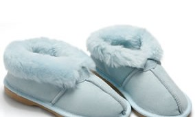 Fashion 4 Shoes - Adult Slippers- Baby blue
