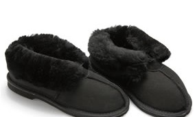 Fashion 4 Shoes - Adult Slippers- Black
