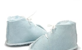 Fashion 4 Shoes - Baby Lace-Up Booties -Baby blue