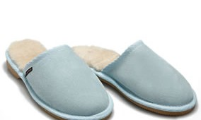 Fashion 4 Shoes - Mens Scuffs- Baby blue