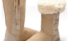 Fashion 4 Shoes - Tall Classic Lace-Up Boots -Sand