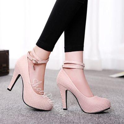 Attractive Ankle Strap Platform Heels