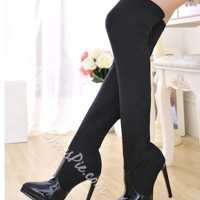 Chic Slim Pointed Toe Stiletto Heels Over Knee High Boots