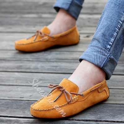 Colorful Suede Slip-on Loafers