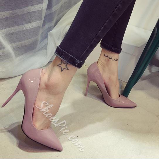Elegant Solid Color Pointed Toe Stilletto Heels