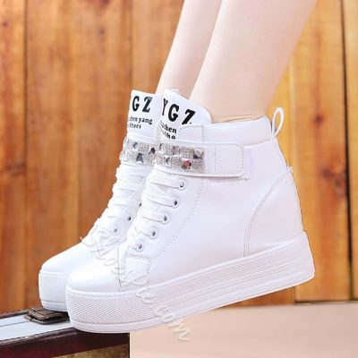 Fabulous New Fashion Rhinestone Middle Heels Sneaker