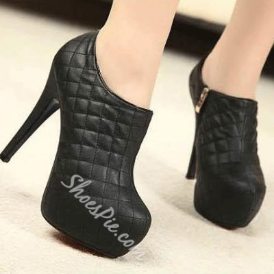 Fahionable Platform Stiletto Heels Ankle Boots