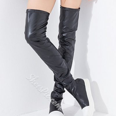 Fashion Slim Over Knee High Flat Boots