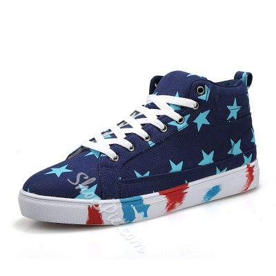 Fashion Star Print Lace-up Sneaker