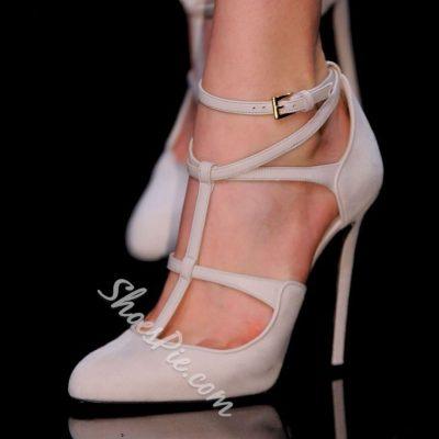 Fashionable Ankle Wrap Laces Stiletto Heels