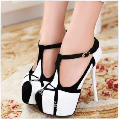 Fashionable Contrast Color Stiletto Heels