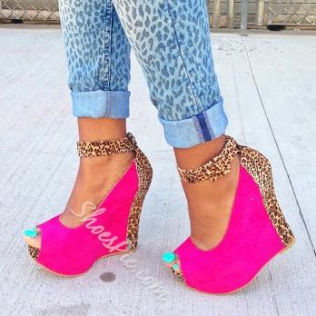 Glamorous Leopard Assorted Peep-toe Heels