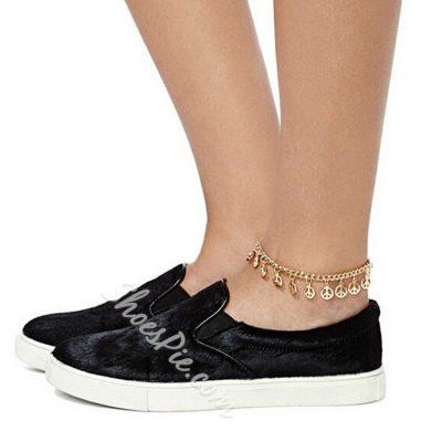 Golden Geometric Shaped Anklet