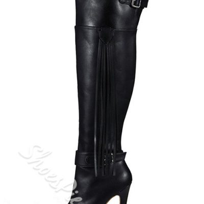Impressive Tassels Over Knee High Boots