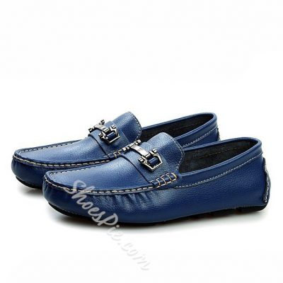 Metal Decorated Quilted Solid Color Moccasin-Gommino Loafers