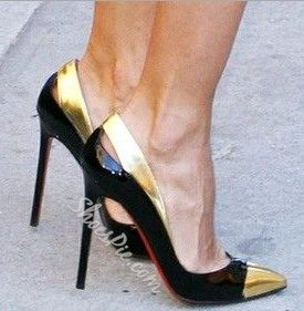 Sexy Contrast Color Pointed-toe Heels