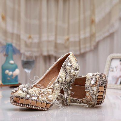 Shoespie Beautiful Shining Rhinestone Bridal Shoes