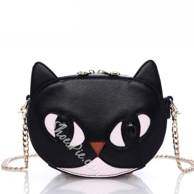 Shoespie Black Cat Chain Crossbody Bag